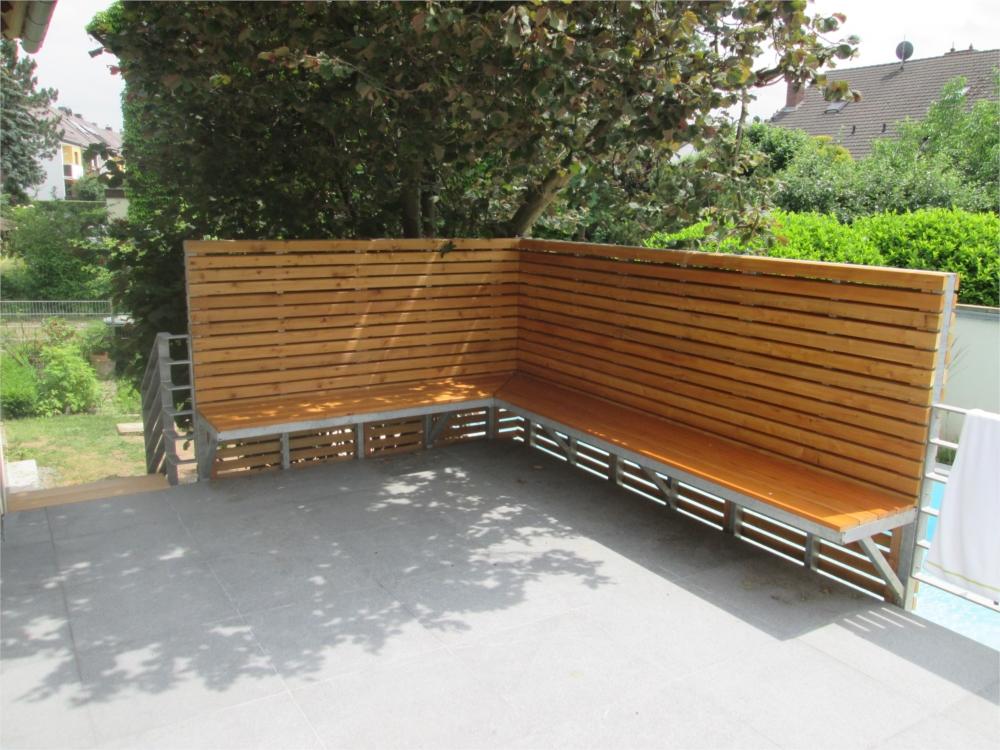 Holz Erfreut De Sitzecke Mit Sichtschutzzaun